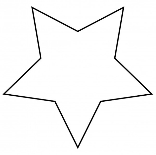 star outline clipart free stock
