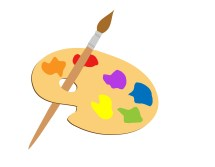 Artists Palette Clipart Kostenloses Stock Bild - Public