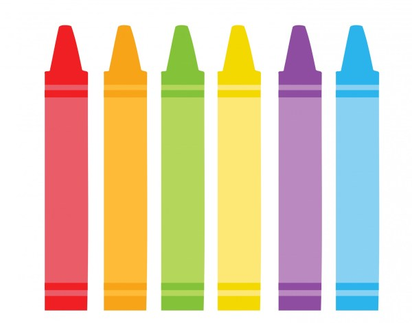 colorful crayons clipart free stock