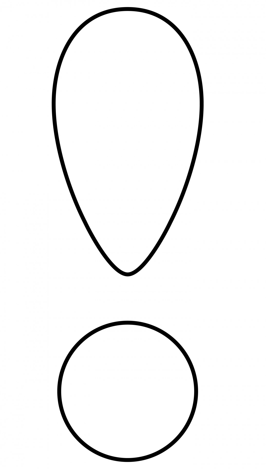 Exclamation Mark Outline Free Stock Photo