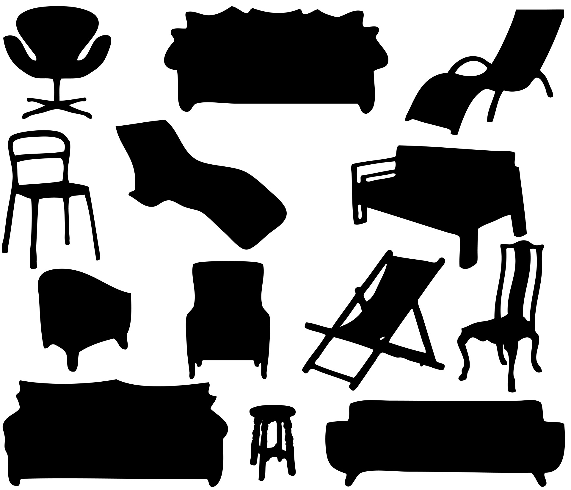 Furniture Silhouettes Free Stock Photo  Public Domain