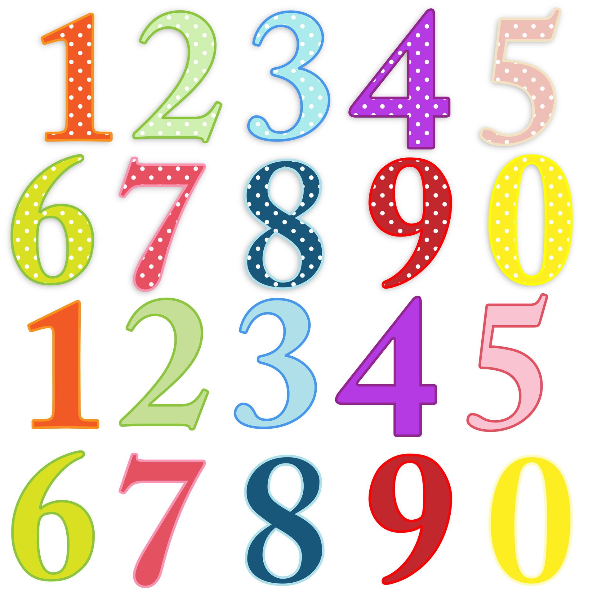 Numbers Colorful Clip Art Free Stock Photo Public Domain Pictures