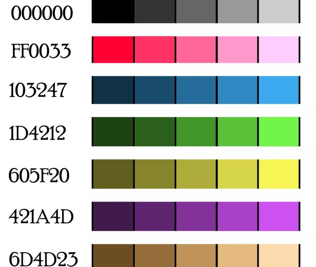 Shades Color Palette
