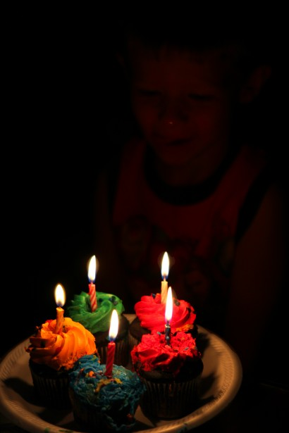 Birthday Cupcakes And Candles Free Stock Photo Public