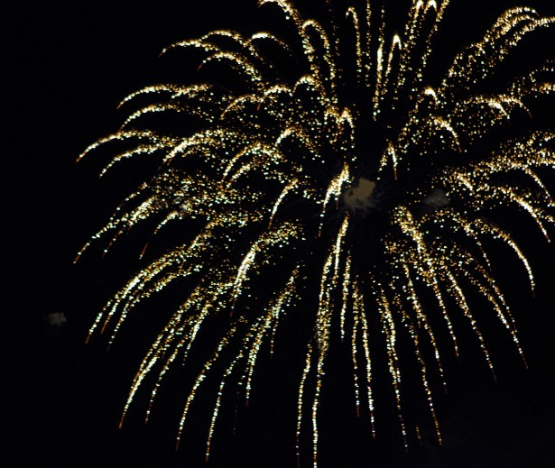 Gold Firework With Streamers Free Stock Photo  Public