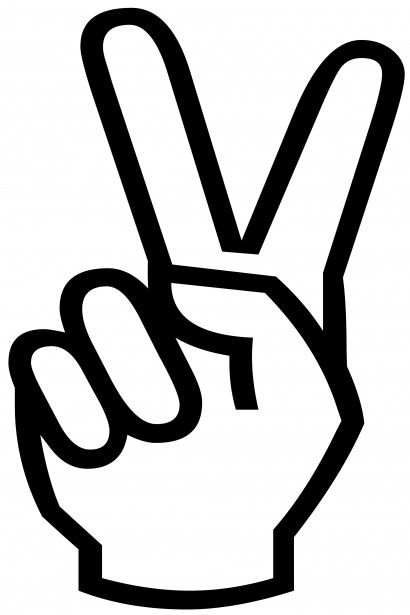 Victory Sign Silhouette Free Stock Photo Public Domain