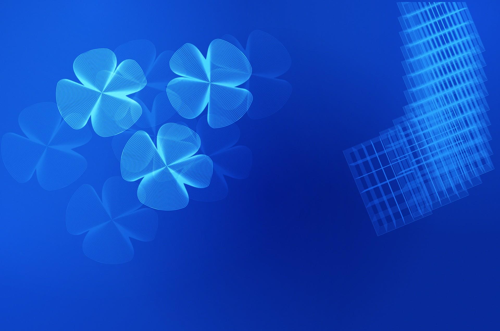 Blue FourLeaf Clover Background Free Stock Photo  Public