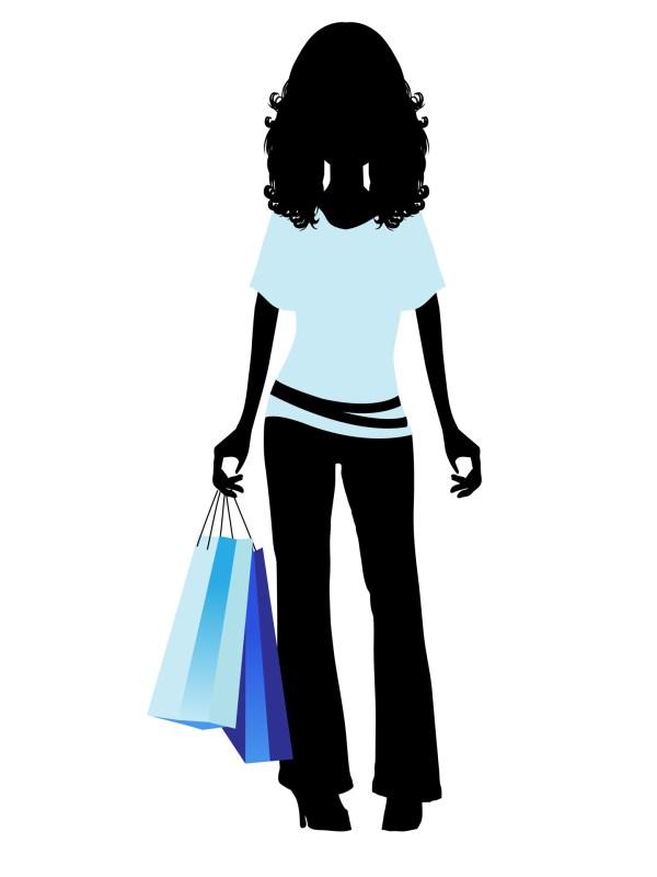 Fashion Shopping Girl Clip Art
