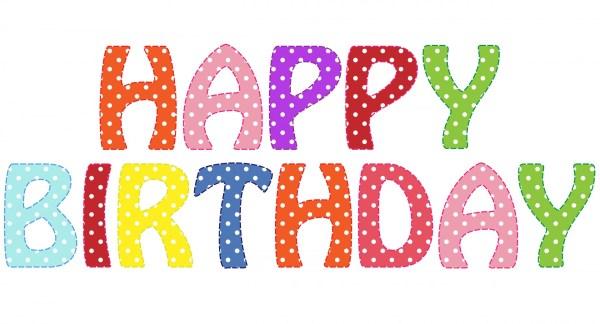 happy birthday text clipart free