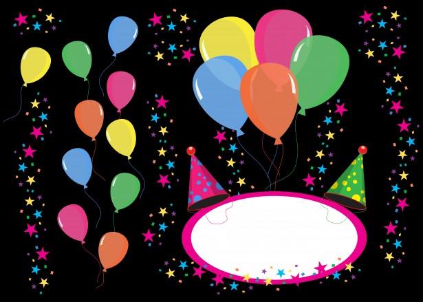 birthday party einladen hintergrund