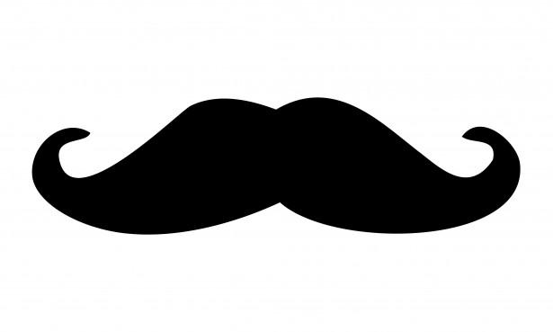 black moustache clipart free