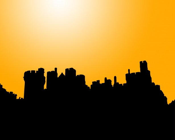 New York Wallpaper Hd Castle Silhouette At Sunset Free Stock Photo Public