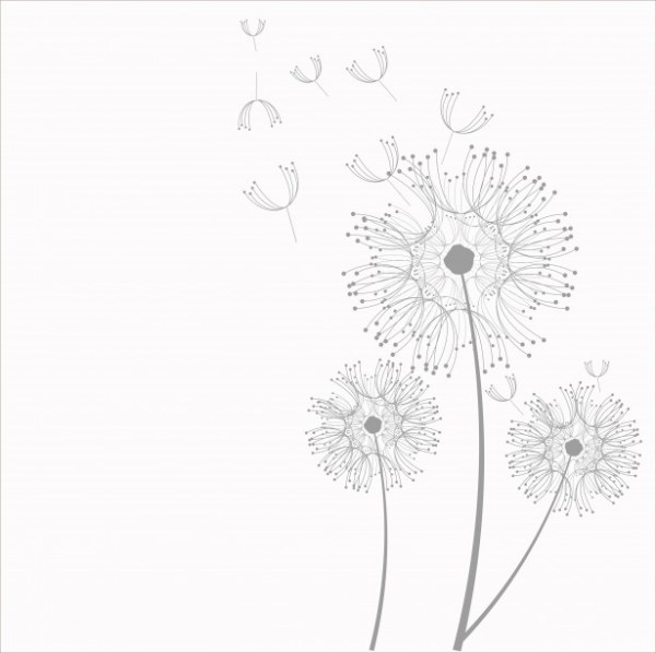 dandelion flowers clipart free