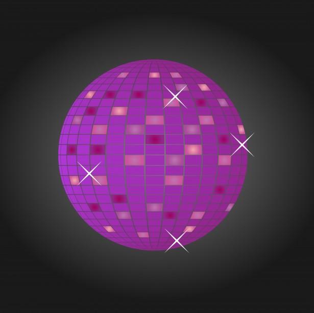 Disco Glitter Ball Purple Free Stock Photo Public Domain