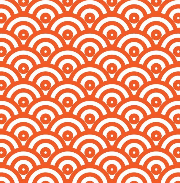 Japanese Wave Pattern Wallpaper Free Stock Photo