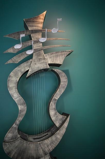Sculpture Dinstruments De Musique Photo Stock Libre