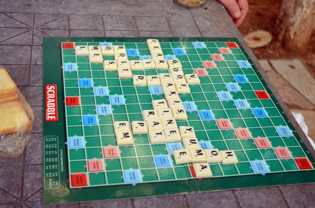 scrabble board free stock