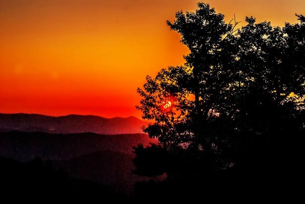 Sunrise Over Mountains Free Stock Photo  Public Domain