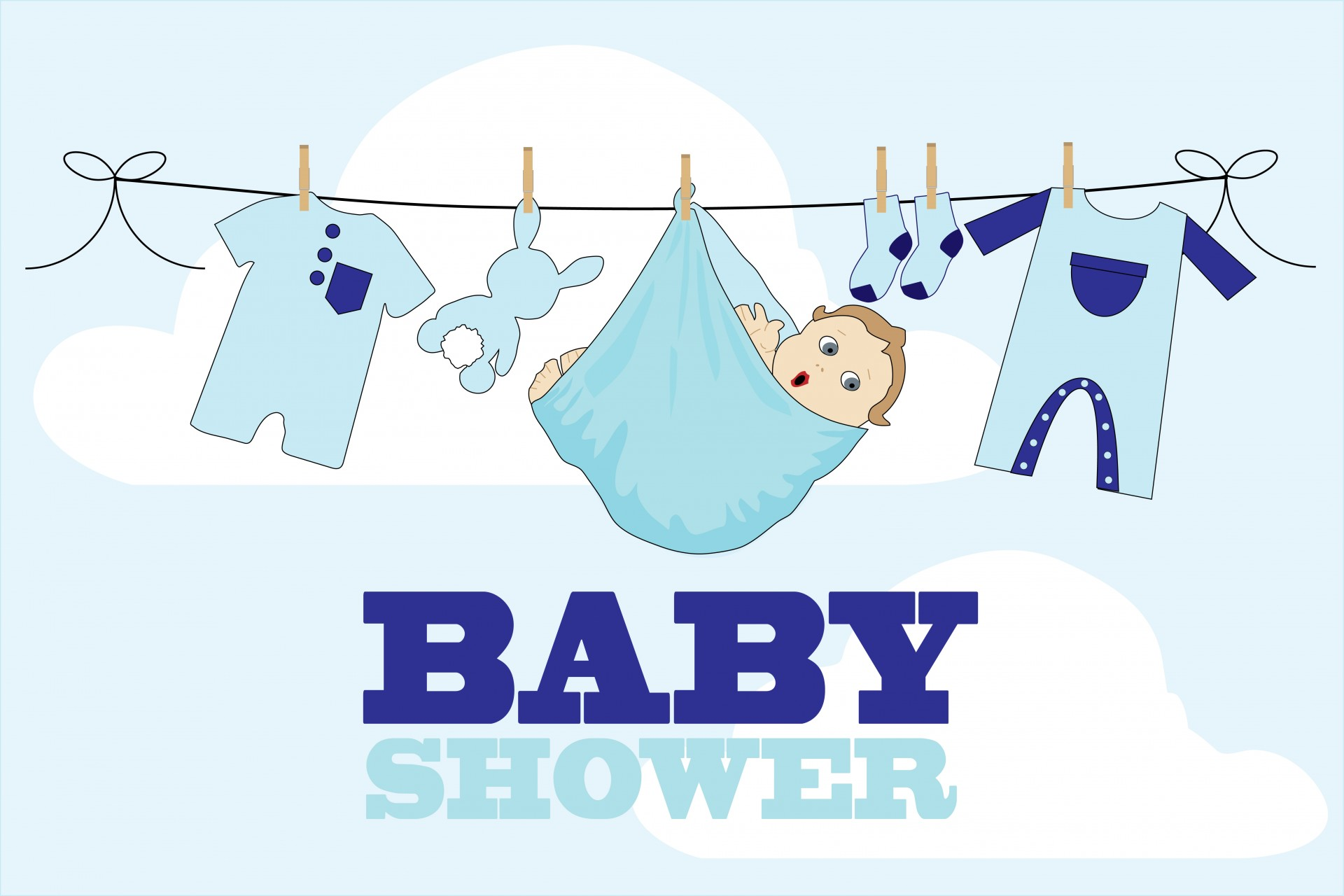 Baby Shower Card Boy Free Stock Photo  Public Domain Pictures