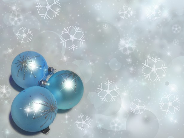 Baby Blue Sparkly Christmas Balls Free Stock Photo