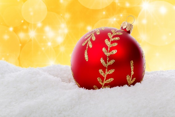 Ball Wallpaper Hd Red Christmas Ball In Snow Free Stock Photo Public