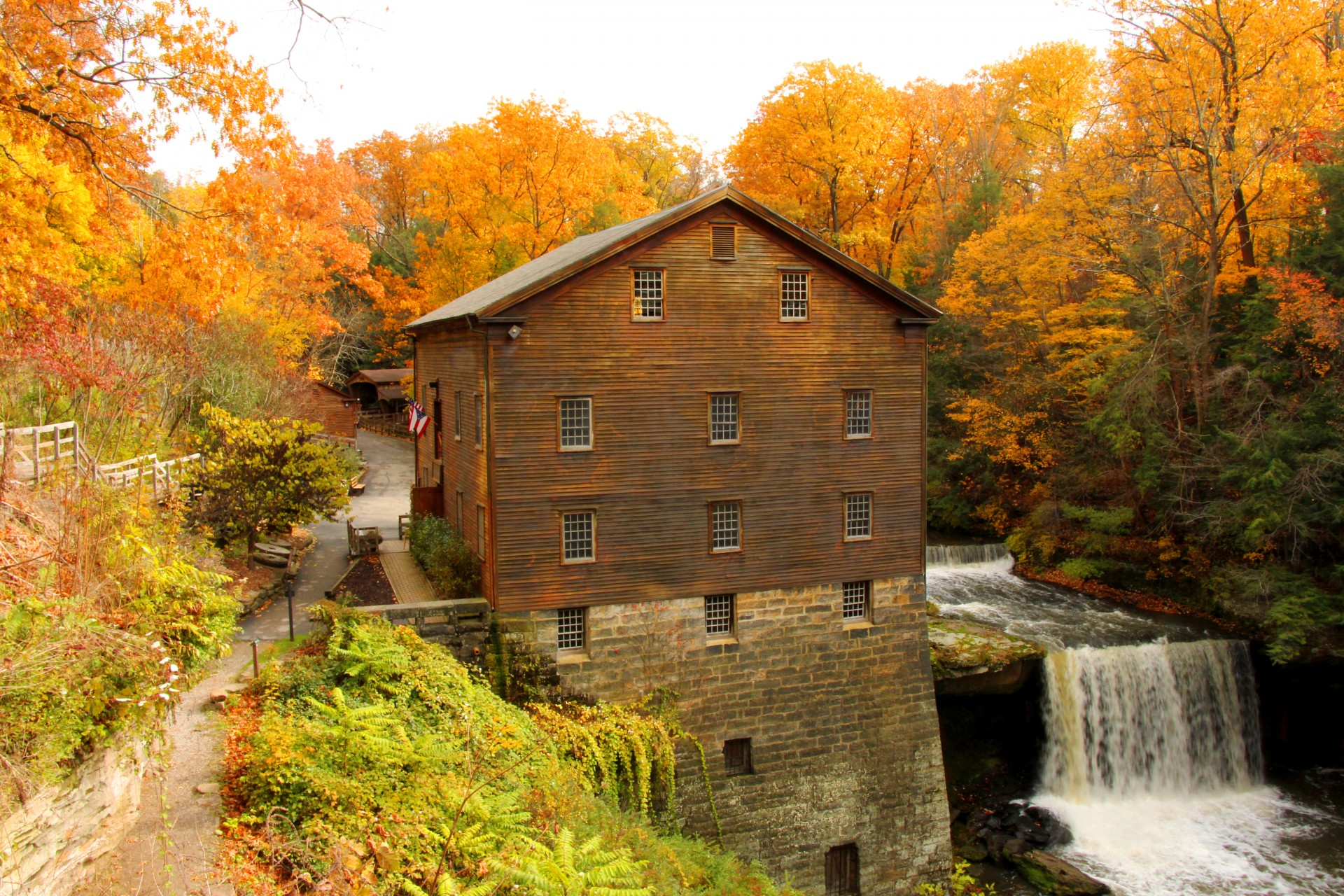 Fall Wallpapes Lanterman S Mill Free Stock Photo Public Domain Pictures