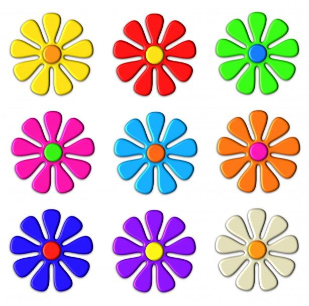 3d flower clip art