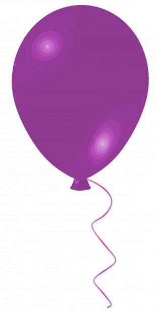 balloon purple clip art free stock