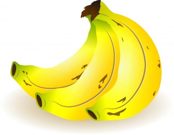 bunch of bananas free stock