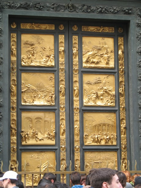 Italy Florence Gold Door Carved Free Stock Photo  Public