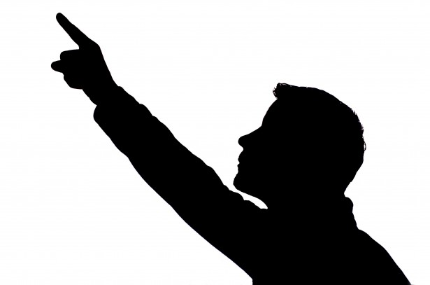Anime Girl Wallpaper Waving Man Pointing Silhouette Free Stock Photo Public Domain