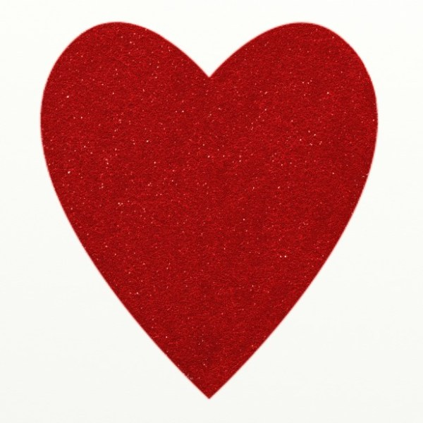 red glitter heart clipart free