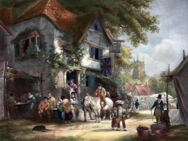 Village Festival Painting Free Stock Photo Public Domain