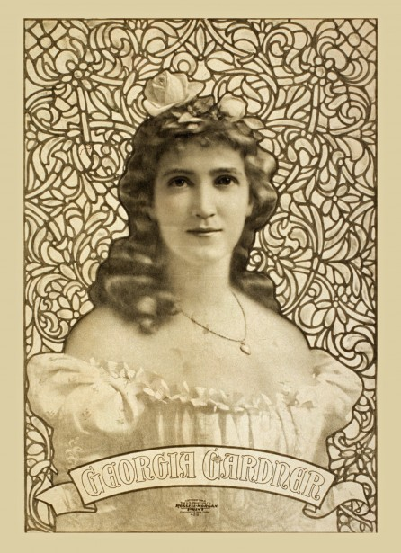 Vintage Georgia Gardner Poster Free Stock Photo  Public
