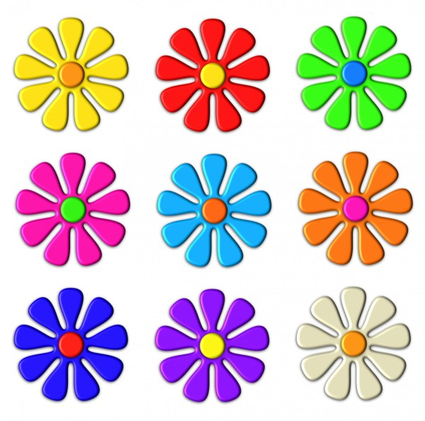 3d flower clip art free stock