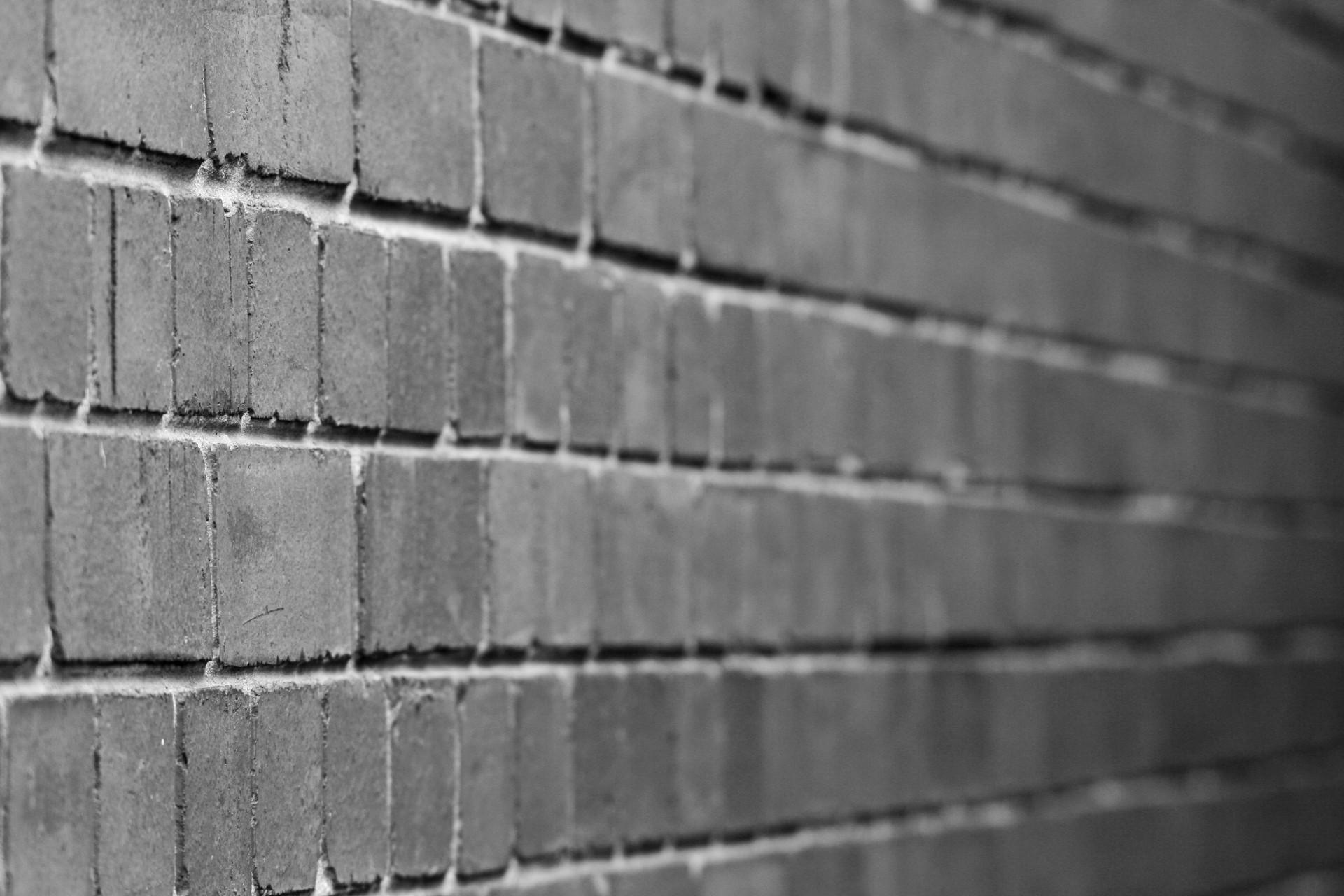 Black & White Brick Wall Free Stock Photo