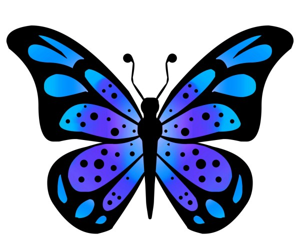 clipart butterfly 3 free stock