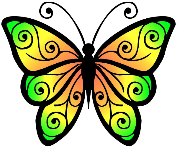 clipart butterfly 4 free stock
