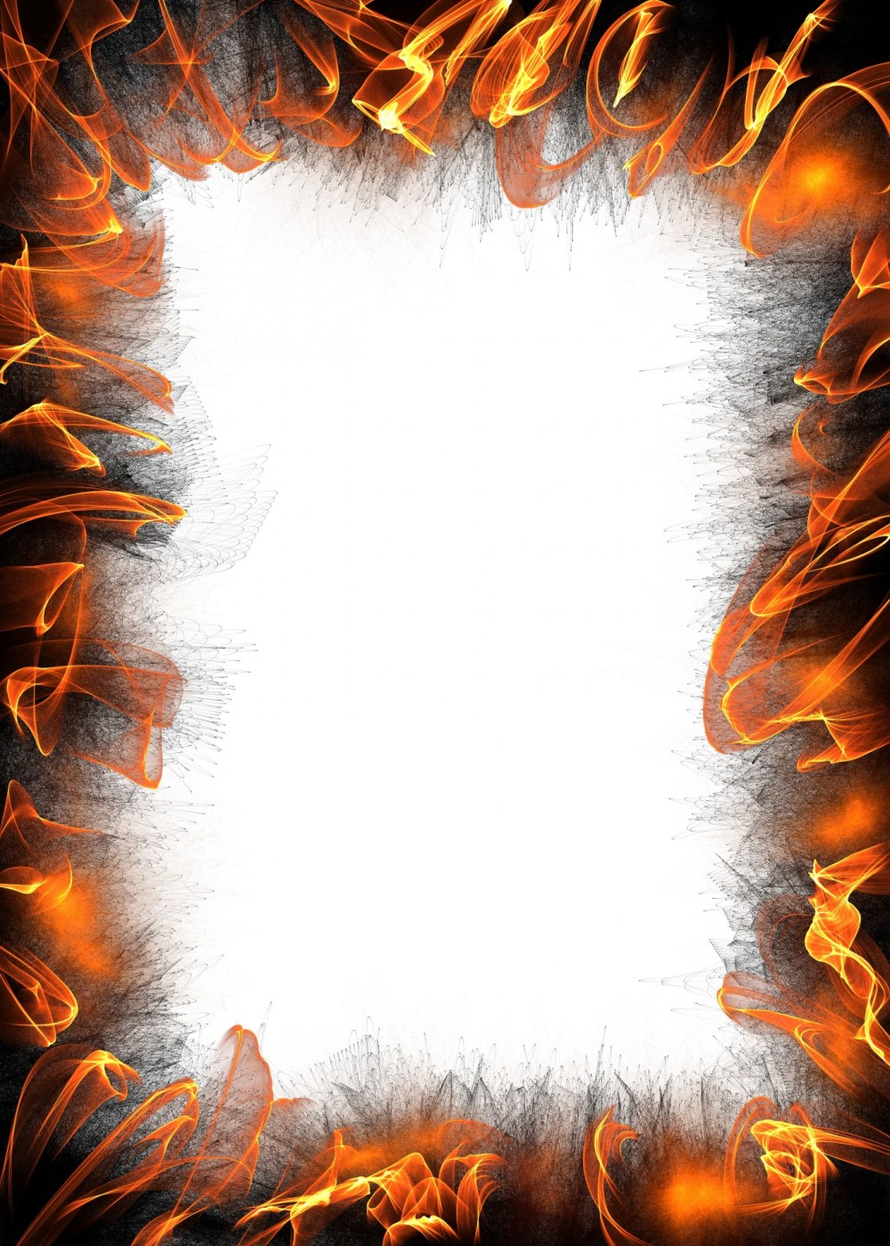 medium resolution of flaming paper border free stock photo public domain pictures