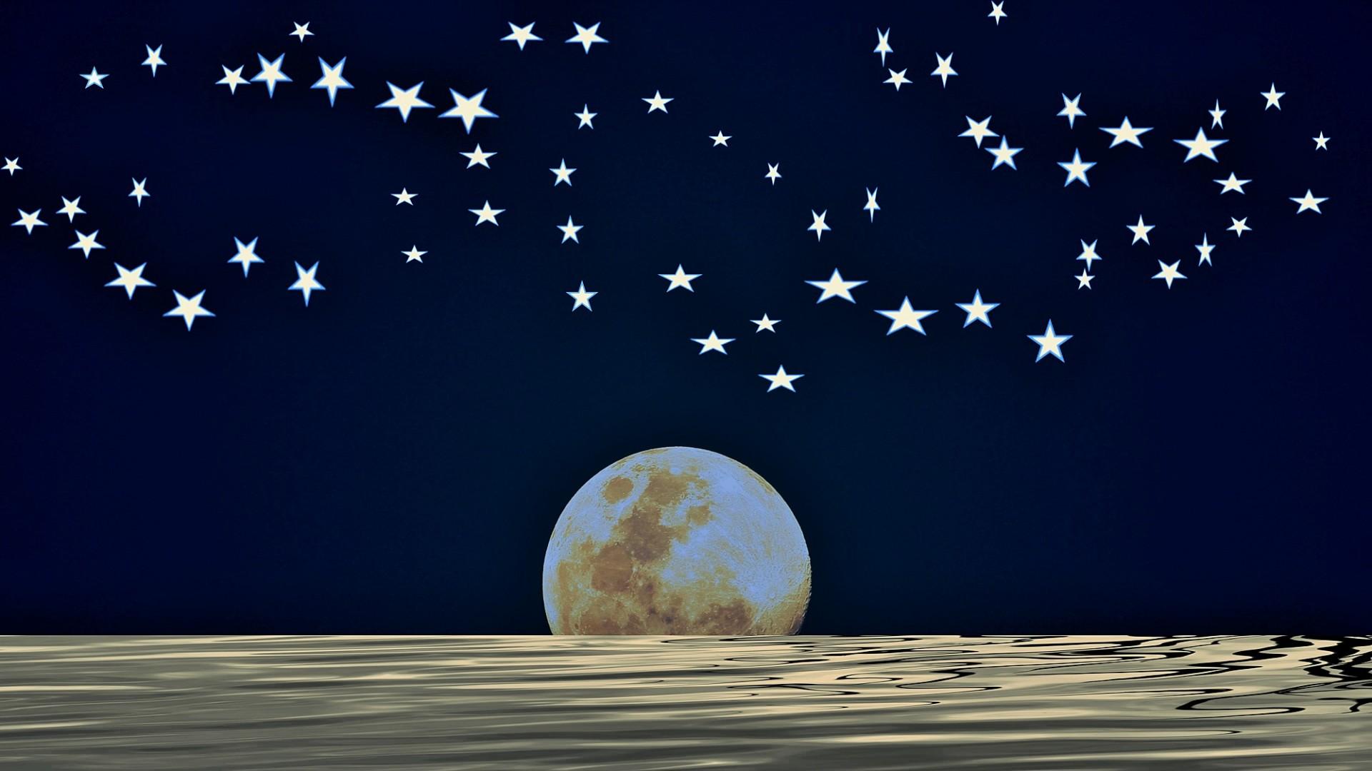 Sweet Wallpaper Hd Full Moon With Midnight Sky Free Stock Photo Public