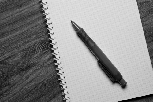 Image result for black notepad and pen