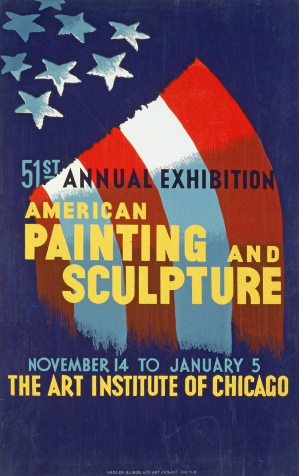 Vintage Art Exhibition Poster Free Stock - Public