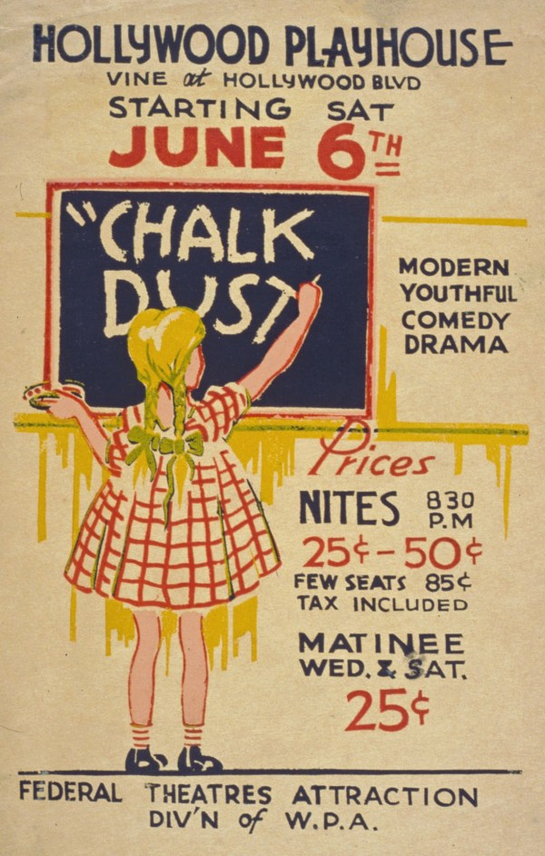 Vintage Hollywood Playhouse Poster Free Stock