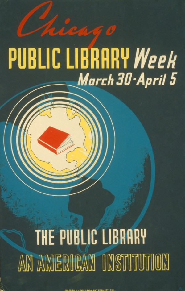 Vintage Public Library Poster Free Stock
