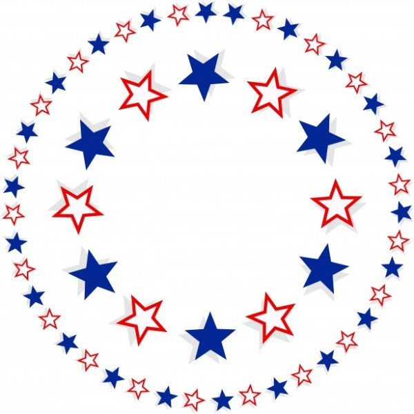 patriotic star border free stock