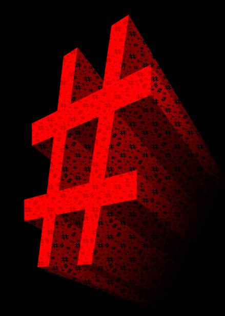Red 3d Hashtag Symbol Free Stock Photo Public Domain