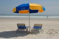 Beach Chairs And Umbrella Free Stock Photo - Public Domain ...