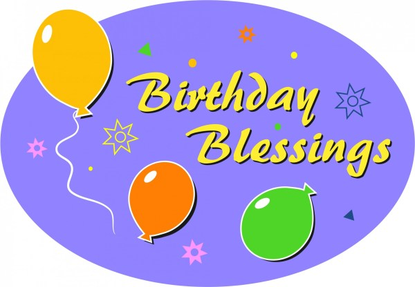 Birthday Blessings Clip Art Free Stock - Public Domain