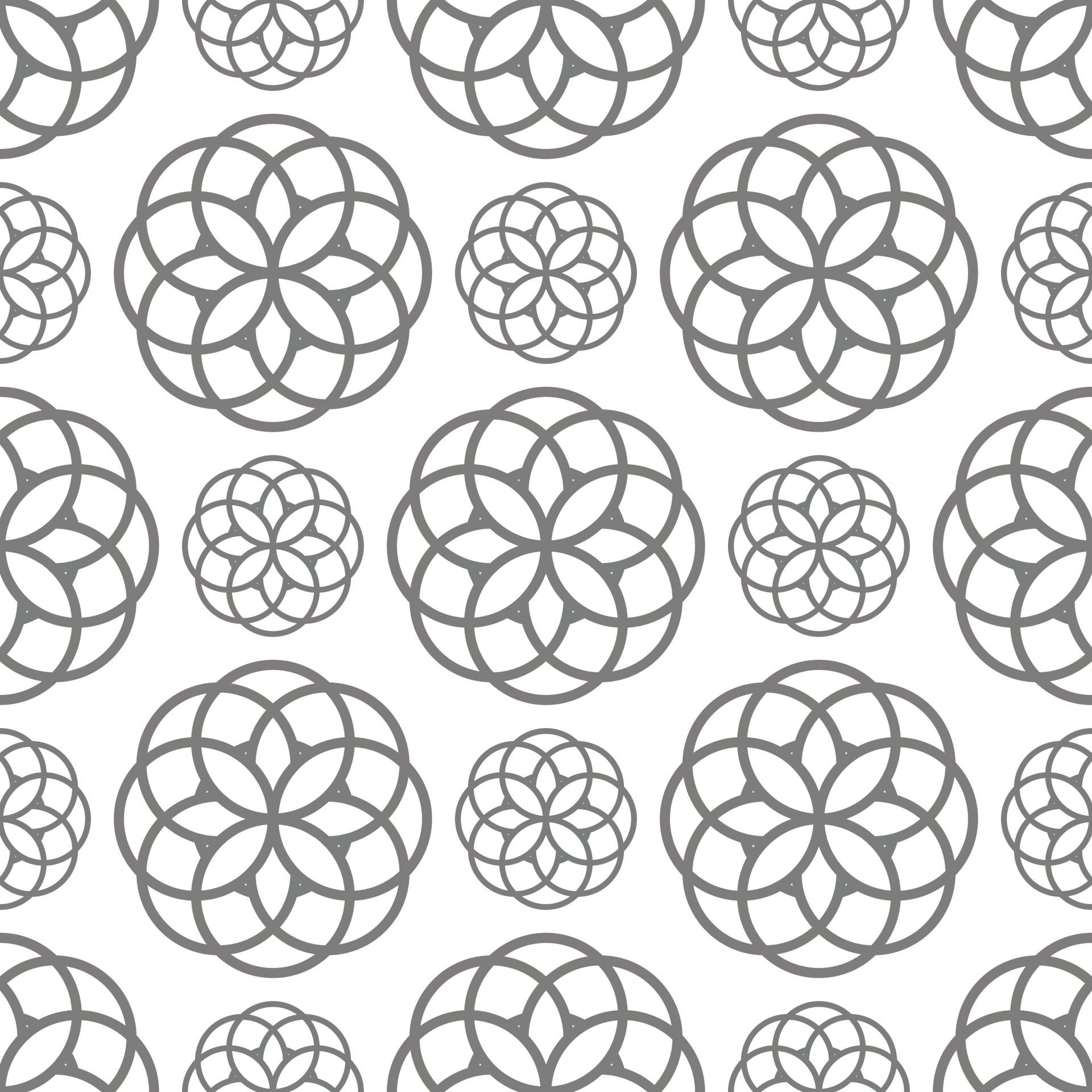 Geometric Circles Seamless Pattern Free Stock Photo