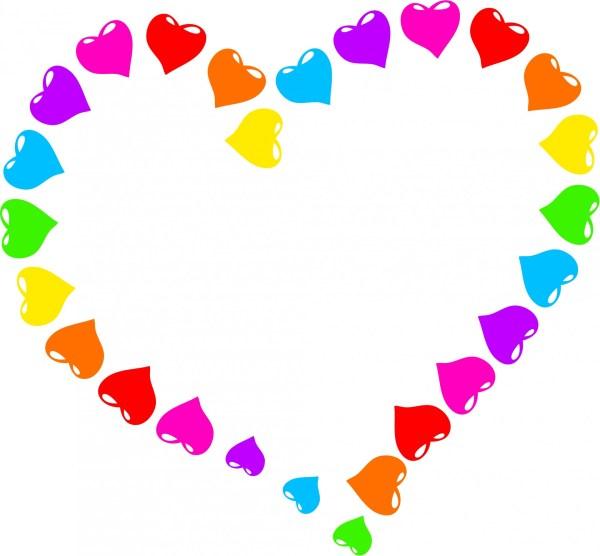 Rainbow Heart Clip Art Free